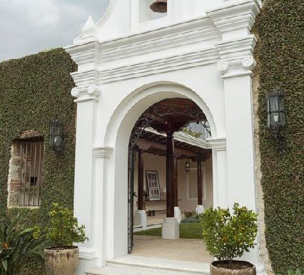 Front of the Spanish colonial designed house